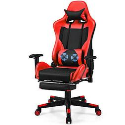 Massage Gaming Chair Reclining Racing Office Chair w/ Lumbar
