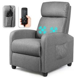 Massage Recliner Chair Single Sofa Fabric Padded Seat Theate