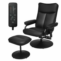 Massage Recliner Couch Chair Lounge Swivel w/ Ottoman Side P