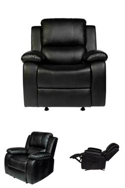 massage recliner sofa leather vibrating heated chair