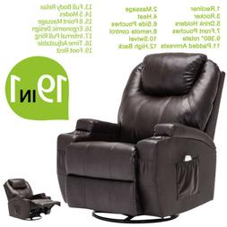 Ergonomic Leather Massage Chair Recliner Sofa Vibrating Heat
