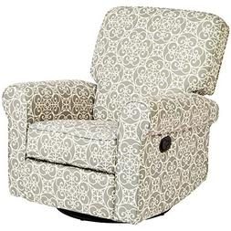 JC Home Menet Swivel Glide Recliner with Fabric Upholstery i