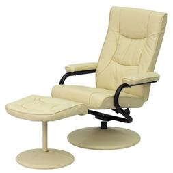 My Friendly Office MFO Contemporary Cream Leather Recliner a