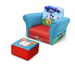 Mickey Mouse Kids Upholstered Chair and Ottoman Set