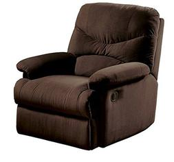 Brand New Oakwood Microfiber Recliner, Chocolate With Contem