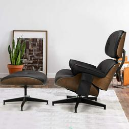 Esright Mid Century Lounge Chair with Ottoman, Indoor Living