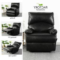 Modern Leather Recliner Chair Manual Single Couch Heavy Duty