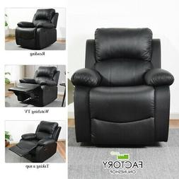 Modern Leather Recliner Chair Single Couch Reclining Sofa Ze