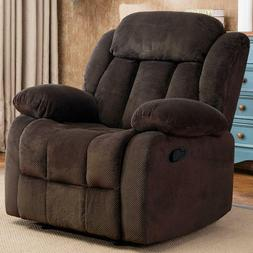 Modern Recliner Chair Puch Back Roll Arm Chairs Sofa Thick B