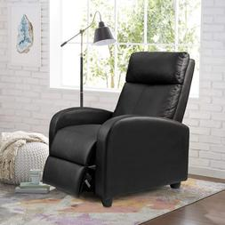 Movie Theater Recliner Chair Reclining Sofa Seat Black Faux
