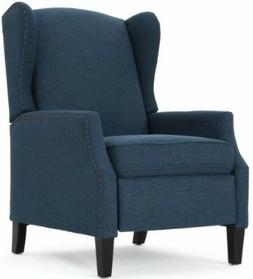 Navy Blue Wingback Accent Club Recliner Chairs Armchair Recl