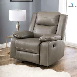 New Abbyson Living Perth Rocker Faux Leather Recliner Chair