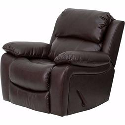 Offex OFX-108216-FF Leather Rocker Recliner - Brown