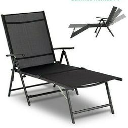 Esright Outdoor Chaise Lounge Chair, Folding Textiline Recli