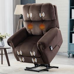 Oversize Electric Power Lift Recliner Massage Chair w/Heat v
