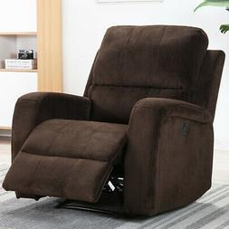 Oversize Electric Power Recliner Chair Air Leather Thick Pad