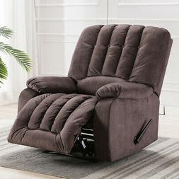 Oversize Manual Recliner Chair Heavy Duty Sofa Soft Suede Ov