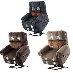 Oversize Power Lift Massage Chair Recliner w/ Heat Vibration