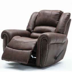 Oversized Recliner Manual Chair Suede Swivel Glider Sofa Sea