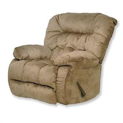 Pemberly Row Oversized Rocker Recliner Chair in Saddle