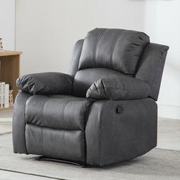 Oversize Manual Recliner Leather Chair Reclining Lounge Sofa