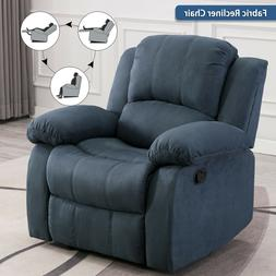 Overstuffed Fabric Recliner Chair Living Room Decor Lounge S