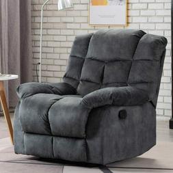 Overstuffed Manual Recliner Chair Single Couch Sofa Thickene
