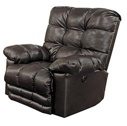 Catnapper Piazza Leather Touch Power Lay Flat Recliner in Ch