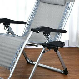 Portables Gravity Folding Beach Chair Camping Recliner Tray
