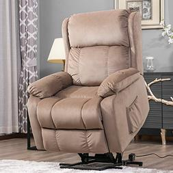 Harper&Bright Designs Power Lift Chair Soft Fabric Upholster