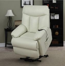 Power Lift Recliner Leather Reclining Chair Living Room Furn