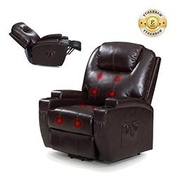 Power Lift Recliner Sofa Chair with Massage and Heating, Lux