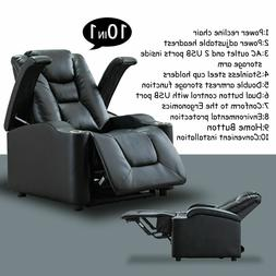 Power Theater Recliner Chair Adjustable Headrest With Cup Ho