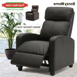 Push Back Chair Recliner Chair Home Theater Seating PU Leath