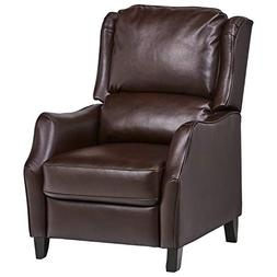 Ravenna Home Push Back Faux Wingback Leather Recliner, 29.9""