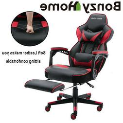 Racing Gaming Chair Ergonomic Recliner PU Leather Office Com