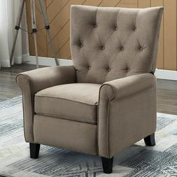 Manual Recliner Accent Chair W/ Roll Arm Elegant Easy to Pus