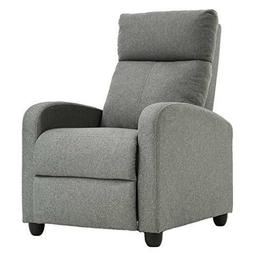 Recliner Chair Fabric Single Sofa Modern Reclining Seat Home