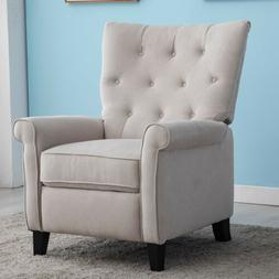 Elizabeth Recliner Chair Accent Push Back Sofa Padded Seat E