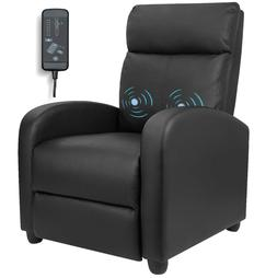 Recliner Chair Massage Sofa Armrest Leather Home Theater Liv