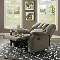 Recliner Chair with Pocketed Comfort Coils Grey Lazy Seat Fu
