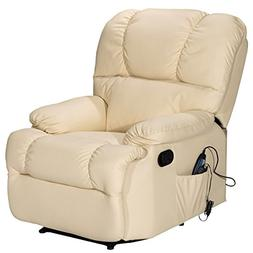 Giantex Recliner Massage Sofa Chair with Heating Set and 8 V