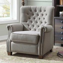 Recliner Reclining Chairs Push Back Contemporary Tufted Padd