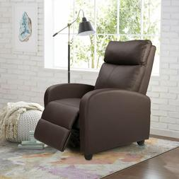 Recliner Seat Club Chair Leather PU Heavy Duty Theater Bedro