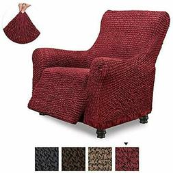 Recliner Slipcovers Cover - Chair Cotton Fabric 1-piece Form