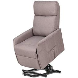 Giantex Recliner Sofa Chair Power Lift Recliner Fabric Padde