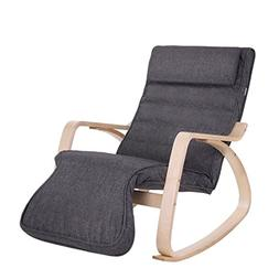 SONGMICS Relax Rocking Chair, Lounge Chair, Recliners, Glide