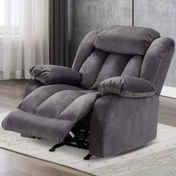 Rocker Recliner Chair Overstuffed Arms And Back For Living R