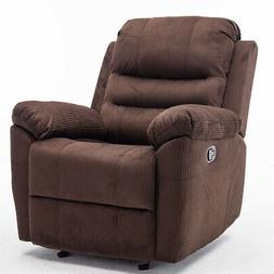 Rocker Recliner Chair Padded Sofa Glider Lounge Furniture Re