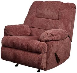 Rocker Recliner Chair in Wine